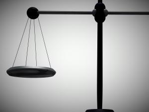 Scales of justice half