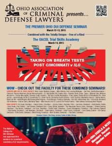 OACDL 2015 DUI seminar brochure page 1