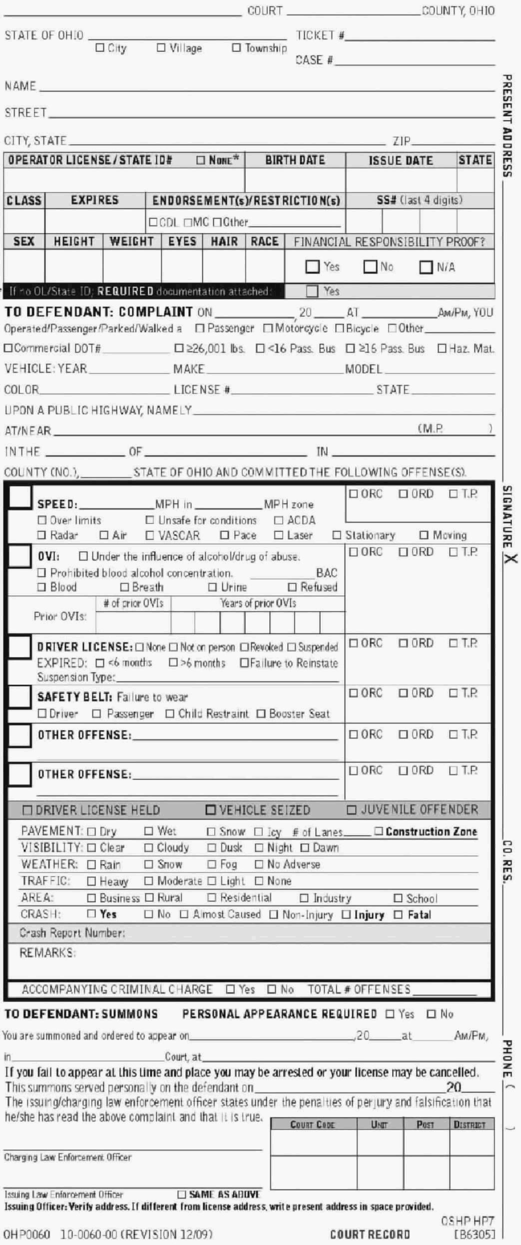 speeding ticket templates