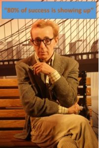Woody Allen with quote